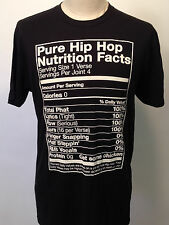 Local Celebrity Men's T-Shirt Pure Hip Hop Nutrition Facts Black Size L NEW Weed