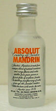 ABSOLUT MANDRIN VODKA MINIATURE BOTTLE - No Contents