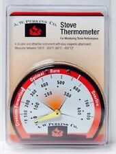 A.W. Perkins Stove Thermometer For Monitoring Stove Performance 100°F-850°F New