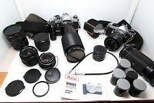 VINTAGE CAMERA LOT_PENTAX ASAHI MX,ME SUPER SE,LENSES,DOMKE BAG_MAKE OFFER