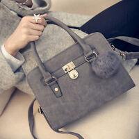 Neu PU-Leder-Handtaschen Damen Handtasche Schultertasche Messenger Bag
