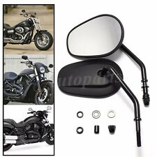 Black Motorcycle Rear View Mirrors For Harley Davidson XL Sportster 1200 Custom