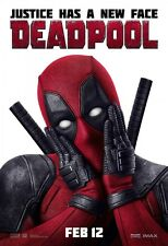 POSTER DEADPOOL DEAD POOL MARVEL WADE WILSON RYAN REYNOLDS LOCANDINA CINEMA #1