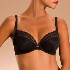 Chantelle 36DDD Bra C Chic Sexy Unlined Plunge 3641 Black Pre-Owned