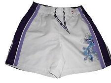 C & A tolle Shorts Gr. 146 / 152 weiß-lila mit kleinem Blumenmotiv !!