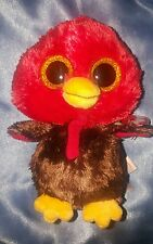 """NEW 2016 TY BEANIE BABY BEANIE BOO~FEATHERS THE THANKSGIVING DAY TURKEY 6"""""""