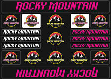 Rocky Mountain  Bicycle Frame Decals Stickers Graphic Adhesive Set Vinyl Purple