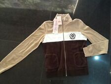 NWT Juicy Couture New & Gen. Ladies Size Medium Brown Cotton Jacket With Logo