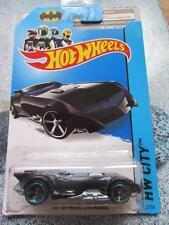 Hot wheels 2014 #061/250 the batman batmobile noir et argent hw city longue carte