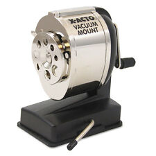"""X-ACTO Ks Manual Vacuum Mount Classroom Pencil Sharpener, Black/chrome"""