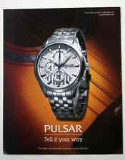 "SEIKO PULSAR ""SPIRIT OF CAMBRIDGE""  2011 - WATCH ADVERT POSTER SIZE 12 X 10 INS"