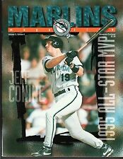 1995 VOL 3, #4 MARLINS vs ROCKIES MAGAZINE PROGRAM Unscored Jeff Conine Cover NM