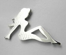 TRUCK TRUCKER BIG RIG SILVER COLORED MUD FLAP GUARD MUDFLAP GIRL LAPEL PIN 1 INC