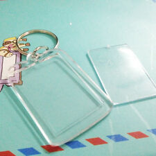 10x Custom Personalised Insert Photo Acrylic Blank Key Keyrings Keychain New