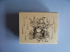 HOUSE MOUSE RUBBER STAMPS RAIN FLOWER NEW STAMP