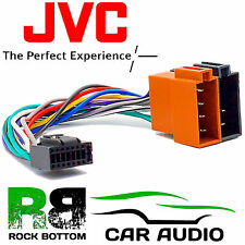 JVC KD-R301 Model Car Radio Stereo 16 Pin Wiring Harness Loom ISO Lead Adaptor