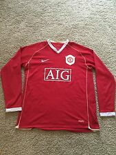 Manchester United Home Shirt 2006/07 adulti Large (L) SCHOLES Manica Lunga Nike