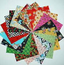 35 4-inch MARY ENGELBREIT Quilt Fabric Squares