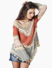 NEW Women's Boho Tribal Indie Bohemian Sweater Jacket Cardigan Cotton Smock Top