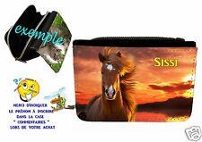 portefeuille cheval personnalisable avec prénom réf 07