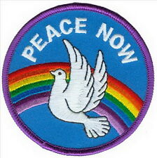 PEACE NOW Dove Rainbow Cartoon Appliques Embroidered Iron on Patch