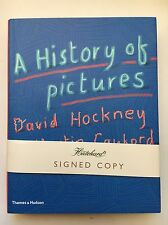 HISTORY OF PICTURES  DAVID HOCKNEY & MARTIN GAYFORD HAND SIGNED BOOK AUTOGRAPHED