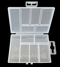 6 Compartments Jewelry Beads Screws Sewing Craft Storage Box Container Organizer