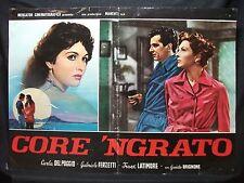 FOTOBUSTA CINEMA - CORE 'NGRATO - CARLA DEL POGGIO - 1951 - DRAMMATICO - 01