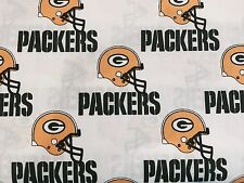 """GREEN BAY PACKERS NFL 60"""" WIDE COTTON FABRIC BY THE YARD Fabric Traditions W"""