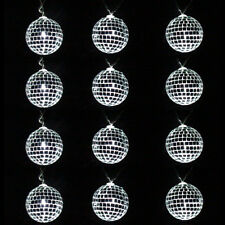 12 Mirror Disco Ball String of Lights LED Lighted Party Decoration