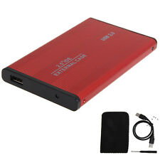 USB 2.0 2.5 Inch SATA Enclosure External Case For Notebook Laptop Hard Disk Red