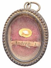 ANTIQUE FIRST CLASS RELIQUARY LOCKET SAINT ANDREW THE APOSTLE