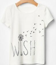 70% OFF! AUTH BABY GAP GIRLS' 'WISH' GLITTER GRAPHIC TEE 3 YEARS BNEW US$ 12.99+