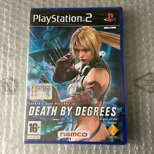 VINTAGE# PS2 PLAYSTATION NAMCO DEATH BY DEGREES#PAL SEALED SIGILLATO