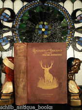 1889 Rocky Mountains Cascade Hunting & Fishing Grizzly Bears Elk PLATES