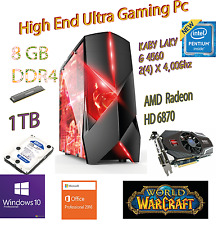 High End Gaming PC Intel g4560 2 (4) x4, 0ghz 8gb ddr4 1000gb HD 6870 Windows 10pro