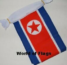 NORTH KOREA BUNTING 9m 30 Polyester Fabric Korean Party Flags Asia Asian