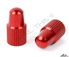 Yokozuna Anodized Aluminum Alloy Bicycle Presta Valve Stem Caps - Fixie - RED