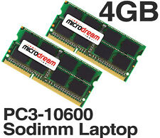 4GB (2x2GB) PC3-10600 1333MHz 204Pin DDR3 Sodimm Laptop Memory RAM