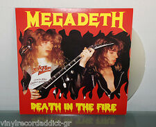 MEGADETH - DEATH IN THE FIRE LIVE IN HOLLAND 1988 VINYL RECORD LP CLEAR WAX RARE