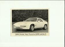 PORSCHE 928 S SERIES 4 PRESS PHOTO FOR THE1989 MODEL YEAR Brochure connected