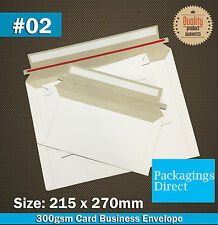 100 #02 Card Mailer 215x270mm 300GSM Envelope - 02 Size Tough Bag Replacement