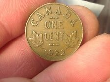 1932 Canadian Small Cent Penny Canada King George V