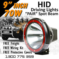 HID Xenon Driving Lights - 9 Inch PRO 70w Spot Beam 4x4 4wd Off Road  12v 24v