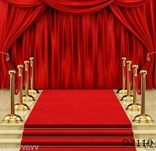 Red Carpet stage Vinyl Backdrop Photography Prop Photo Background 10X10FT DZ110