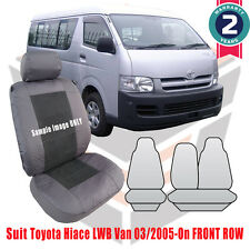 Toyota Hiace LWB Van Outback Canvas Custom Fit Car Seat Covers 03/2005-On