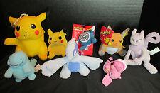 Pokemon Nintendo Hasbro Bean Bag, Zipper Pull, Bath Sponge 8 Total