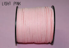 new 10yd 3mm pink Suede Leather String Jewelry Making Thread Cords light pink