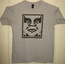 OBEY Shirt M Andre the Giant Face Logo Propaganda Posse Fairey OOP RARE HTF