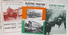 Electric Traction Quarterly - 3 Issues